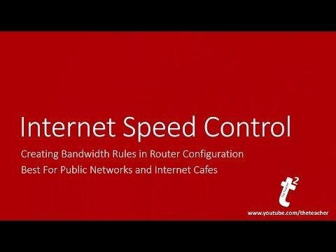 How to Control Internet Download and Upload Speed Over Network using Wifi Router