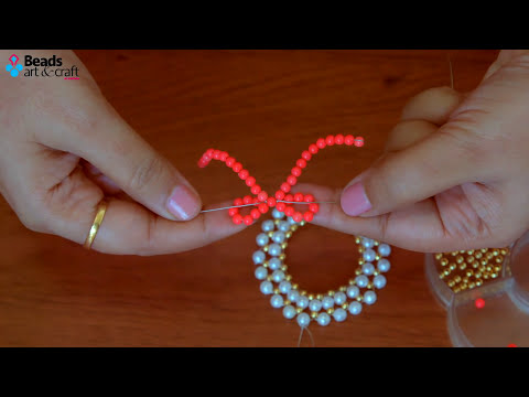 DIY pearl Christmas wreath | How to make wreath ornaments | Christmas decorations ideas |Beads art