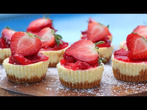 Mini Lemon Cheesecakes with Strawberry Topping | Ep. 1259
