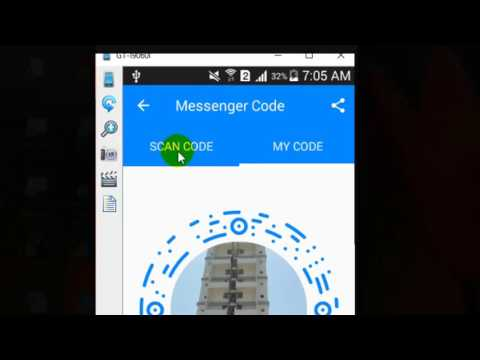 How to scan the messenger code in Facebook messenger android app