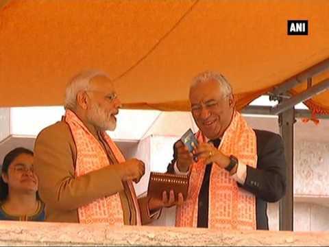 PM Modi presents 'Overseas Citizen of India' card to Portuguese PM Antonio Costa - ANI News