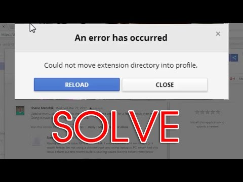 Fix An error has occurred could not move extension directory into profile | Google chrome issue
