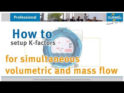 K-factors for simultaneous volumetric and mass flow measurement tutorial