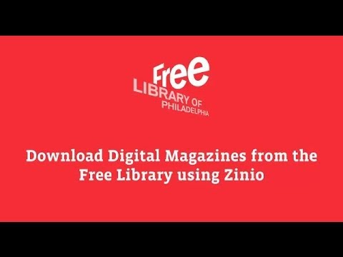 Download Digital Magazines from the Free Library Using Zinio