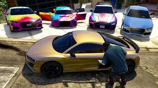 GTA 5 - Stealing Luxury Modified Audi Cars with Franklin! | (GTA V Real Life Cars #88)