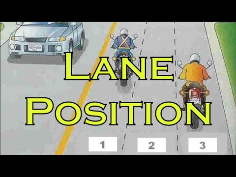The Best Motorcycle Lane Position