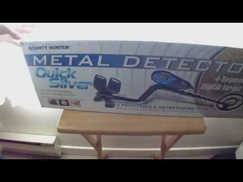Bounty Hunter Quick Silver Metal Detector Unboxing