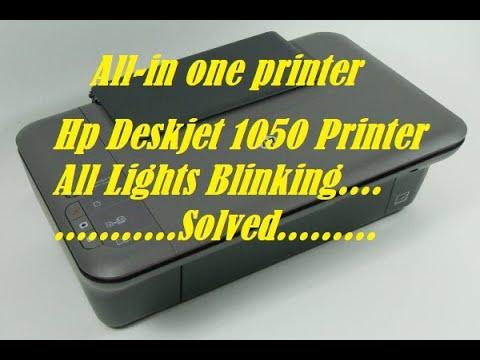 How to solve all light blinking in HP DESKJET 1050 PRINTER !! Simple Method !! Replacing Catridge !