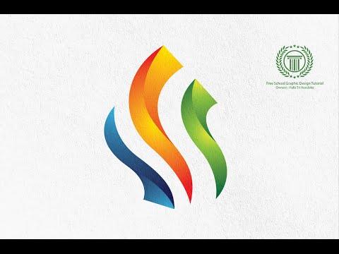 Flame Fire Colorful Logo Design Tutorial - Adobe illustrator logo design tutorial