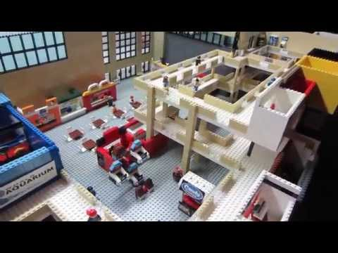 LEGO Shopping MALL! 50,000 pcs, 56 shops, 3 stories, custom MOC!