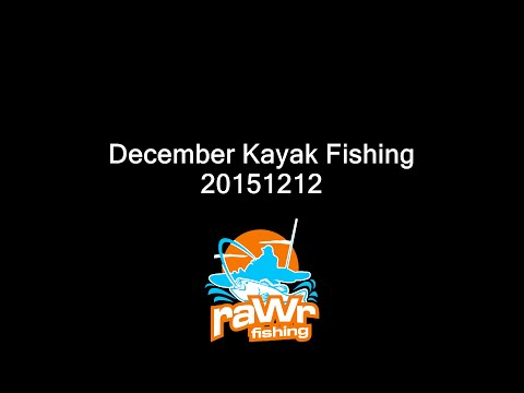 December Kayak Fishing for Bass, Crappie and Bluegills