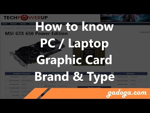 How To Know PC / Laptop / Notebook Graphic Card (GPU)