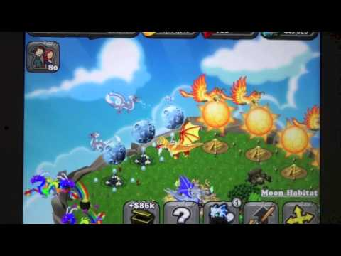 Blue Moon Dragon DragonVale Breeding + Evolution