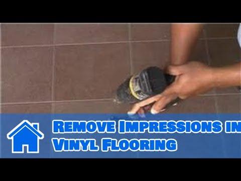 Vinyl Flooring Maintenance & Cleaning : How to Remove Impressions in Vinyl Flooring