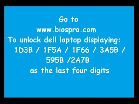 Unlock Dell Latitude & Dell Precision Bios & HDD Password