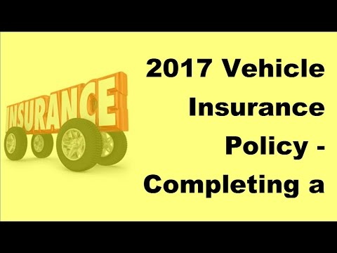 2017 Vehicle Insurance Policy  | Completing a Spanish Car Insurance Claim Form