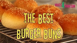 How to Make Perfect Gourmet Burger Buns. Sesame Burger Buns Recipe from Whats4Chow.com