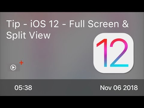 SCOM0784 - Tip - iOS 12 - Full Screen & Split View
