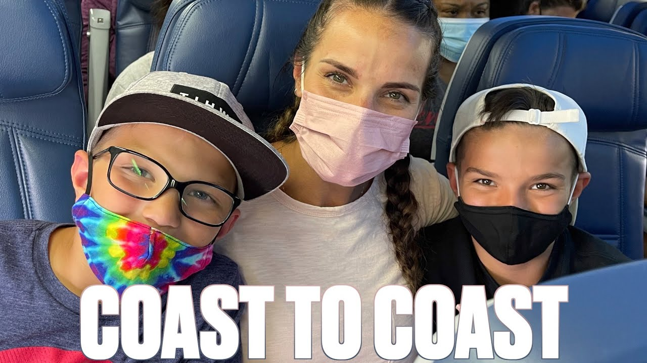 FLYING ON AN AIRPLANE WITH FOUR KIDS ALL DAY | COAST TO COAST FAMILY TRAVEL ADVENTURE
