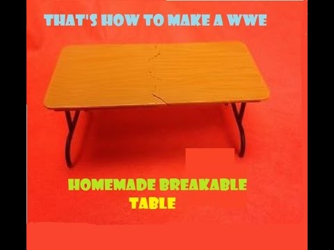 Tutorials- WWE Homemade breakable Table !!!