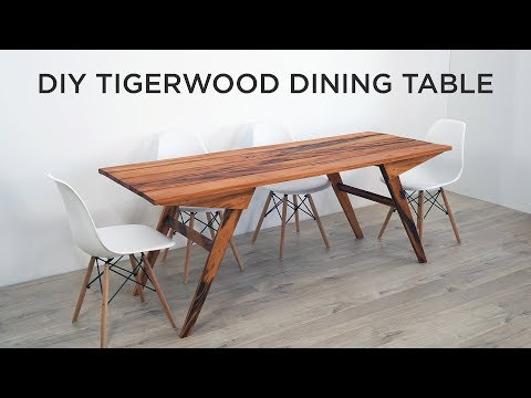 DIY Outdoor Dining Table Made out of Tigerwood