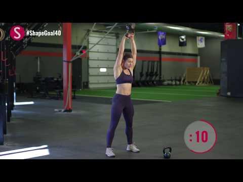 Kettlebell Workout Finisher | #CrushYourGoals with Jen Widerstrom | SHAPE