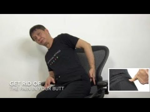 Instantly get rid of your sciatica pain in your butt and glutes