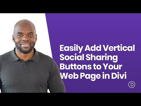 How to Easily Add Vertical Social Sharing Buttons to Your Web Page in Divi