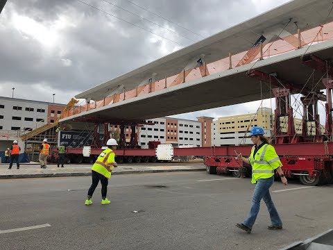FIU Florida Bridge Collapse NO CRACK with GREAT close ups of the north end of Bridge before video
