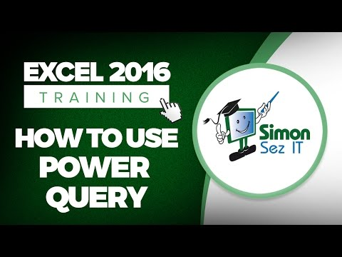 How to Use Power Query / Get And Transform in Microsoft Excel 2016