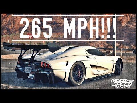 NFS Payback - FASTEST CAR / FULLY UPGRADED KOENIGSEGG REGERA!!