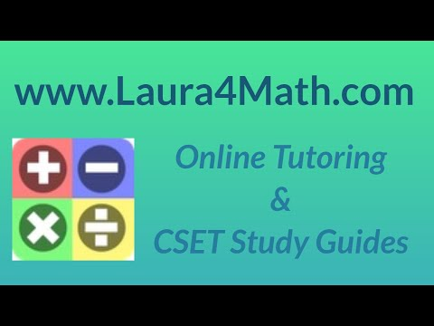 CSET Algebra New Official Practice Test MC 11 (old 03)