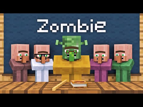 Zombie vs Villager Life 1 - Alien Being Minecraft Animation