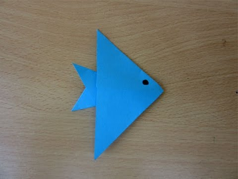 How to Make a Simple Paper Fish (Model2) - Easy Tutorials