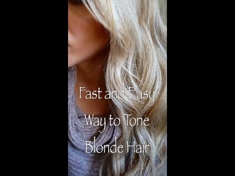 Tone your hair to an icy blonde using brown box dye|Really works!
