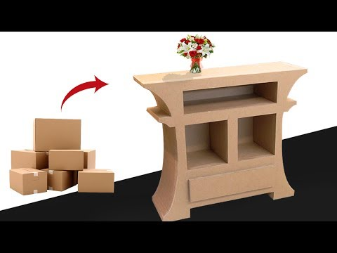 How to make Amazing furniture DIY using cardboard very simple recycled crafts |Cardboard furniture