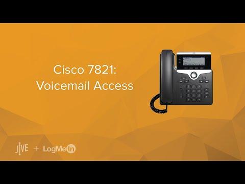Cisco 7821: Voicemail Access
