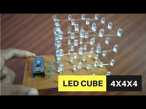 LED Cube 4X4X4 | Arduino Project