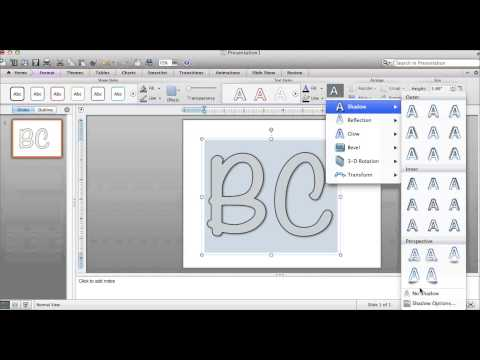 Filling Word Art and Shapes on PowerPoint for Mac
