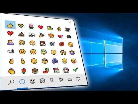 WINDOWS 10 EMOJI KEYBOARD 🐱‍🐉👍🍕💩