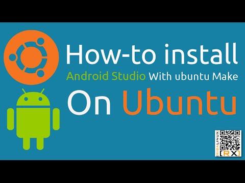 How-to install Android Studio With ubuntu Make On Ubuntu