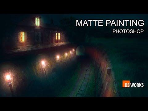 Photoshop MATTE PAINTING  DARK NIGHT LIGHTING  manipulation