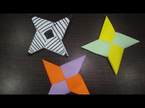 Paper ninja star origami