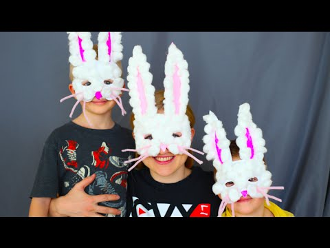 How To Make Easter Bunny Masks! Kids Craft!