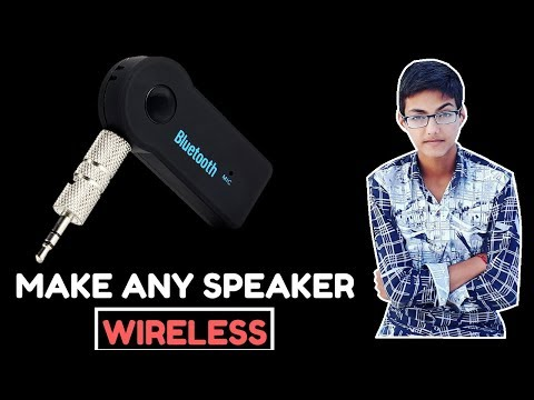 How to make any speaker or car music system wireless with bluetooth music receiver