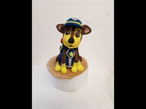 how to make Chase from paw patrol cake topper