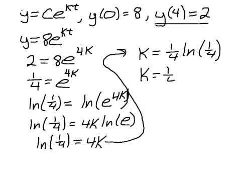 Finding Constants for Exponential Function