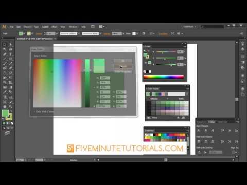 Adobe Illustrator Color Picker and color Palette Tutorial