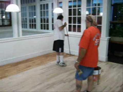 Floor Refinishing Video By Doitallman.com