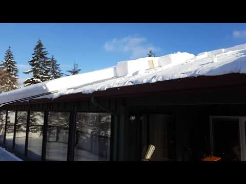 Roof Snow Cutter With Chute